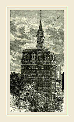 Office Of The New York Tribune, 1891 Art Print