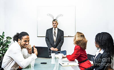 Whiteboard Photograph - Office Prank by Diane Diederich