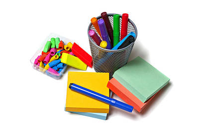 Ball Pen Work Photograph - Office Supplies by Donald  Erickson