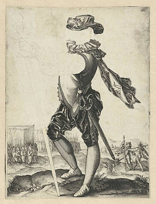 Officer In The Army, Hendrick Goltzius Art Print