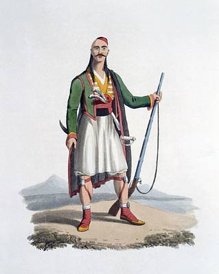 Turkey Drawing - Officer Of The Spahis, 1818 by English School