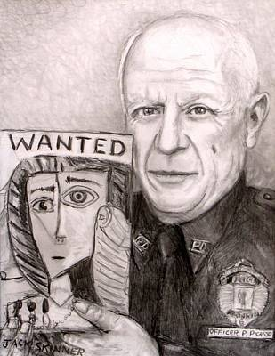 Officer Picasso Police Sketch Artist Art Print by Jack Skinner