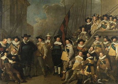Officers And Other Marksmen Of The V District In Amsterdam Art Print