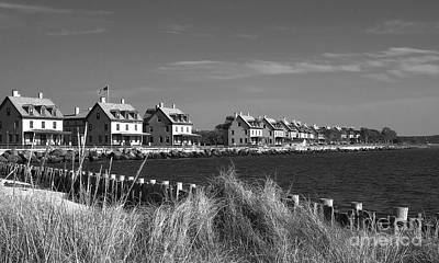 Print featuring the photograph Officers Row - Sandy Hook by Vicki DeVico
