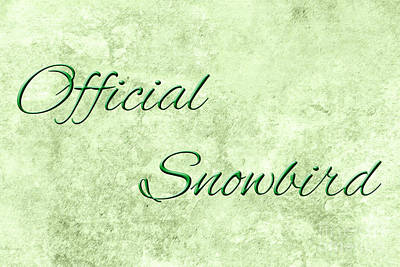 Digital Art - Official Snowbird 5 by Andee Design