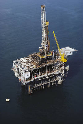 Offshore Drilling Rig Art Print