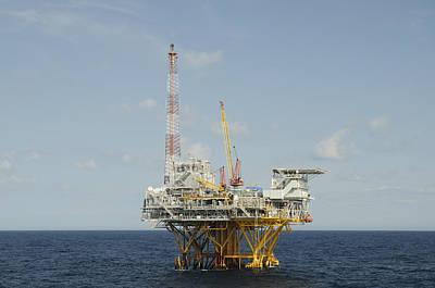 Offshore Natural Gas Platform Art Print