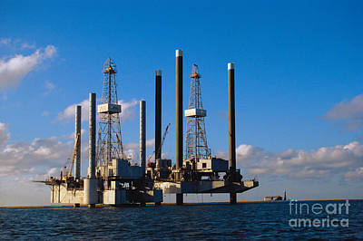 Offshore Oil Drilling Platform Art Print