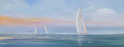 Offshore Sailing Art Print by Jim Christley