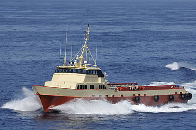 Photograph - Offshore Supply Vessel by Bradford Martin