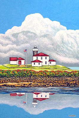 Offshore Thunderheads Print by David Linton