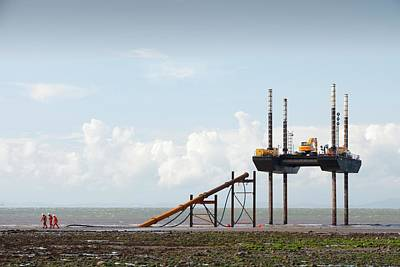 Wind Mills Photograph - Offshore Wind Farm Construction by Ashley Cooper