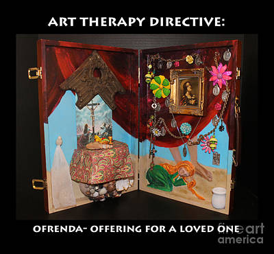 Cross Relief - Ofrenda Art Therapy Directive by Anne Cameron Cutri