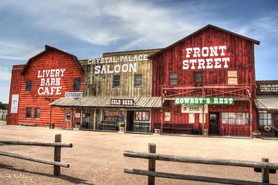 Photograph - Ogallala Nebraska - Front Street by Andrea Kelley