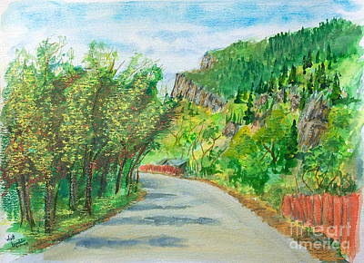 Painting - Ogden Canyon Road by Walt Brodis