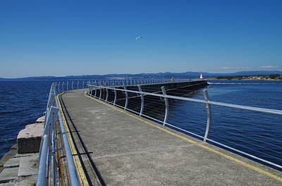 Photograph - Ogden Point Breakwater - With Railings by Marilyn Wilson
