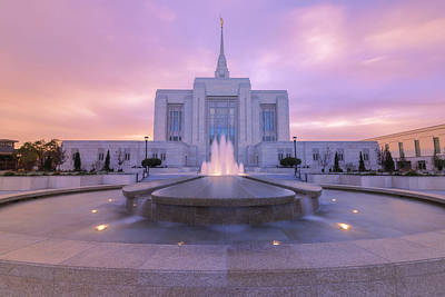 Pastel Sunset Photograph - Ogden Temple I by Chad Dutson