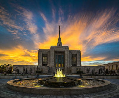 Utah Temple Photograph - Ogden Temple by Peter Irwindale