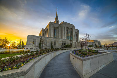 Salt Lake Temple Wall Art - Photograph - Ogden Temple Utah by Peter Irwindale