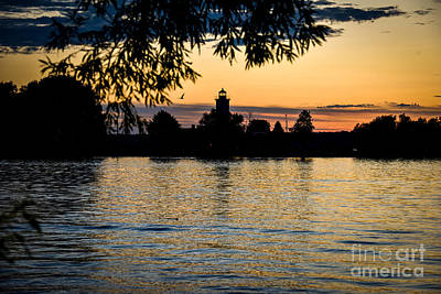 Photograph - Ogdensburg Harbor Light At Sunset by Patricia Trudell