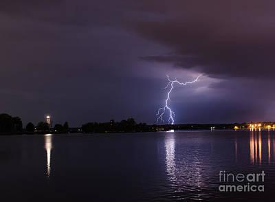Photograph - Ogdensburg Prescott Lightning Strike by Patricia Trudell