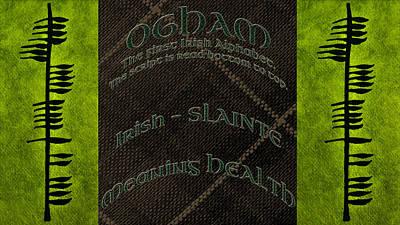 Photograph - Ogham Ancient Irish Text For Health  by LeeAnn McLaneGoetz McLaneGoetzStudioLLCcom