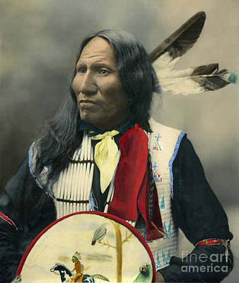 Photograph - Oglala Chief Strikes With Nose 1899 by Heyn Photo