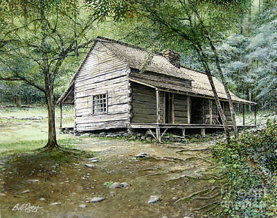 Painting - Ogle Cabin by Bob  George