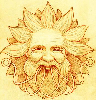 Ogma Sun-faced Art Print by Yuri Leitch