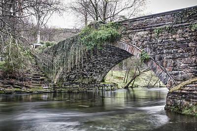 Black Rock Yellow Leaves Water Photograph - Ogwen Bank Bridge by Christine Smart