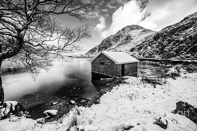 Lakes Digital Art - Ogwen Boat House V2 by Adrian Evans