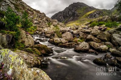 Watercolour Stones Photograph - Ogwen River by Adrian Evans