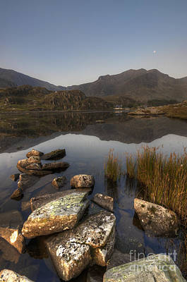 Snowdonia Photograph - Ogwens Moon. by Darren Wilkes