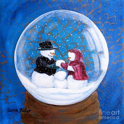 Painting - Oh Baby Snow Baby by Susan Fisher