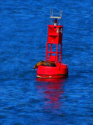 Blue Bouys Painting - Oh Buoy by Bruce Nutting