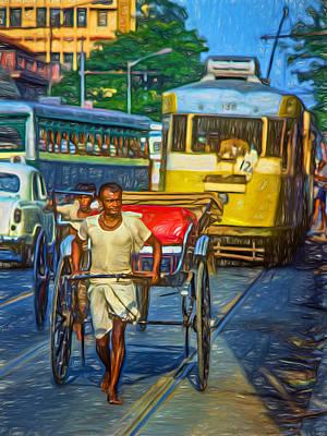 Traffic Congestion Photograph - Oh Calcutta - Paint by Steve Harrington