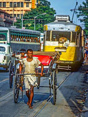 Traffic Congestion Photograph - Oh Calcutta by Steve Harrington