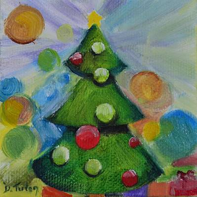 Christmas Painting - Oh Christmas Tree by Donna Tuten