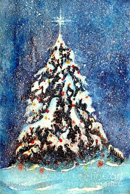 Oh Christmas Tree Art Print by Janine Riley