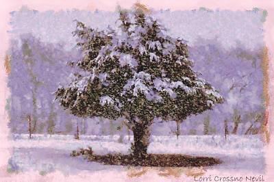 Oh Christmas Tree Art Print by Lorri Crossno