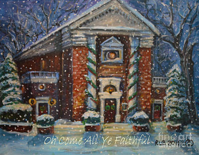 Art Print featuring the painting Oh Come All Ye Faithful by Rita Brown