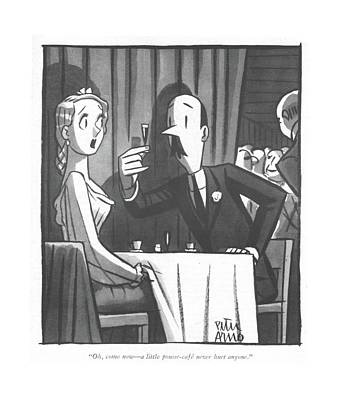 Drawing - Oh, Come Now - A Little Pousse-cafe Never Hurt by Peter Arno