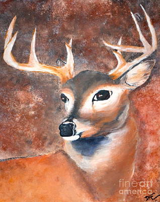 Oh Deer Art Print by Denise Tomasura