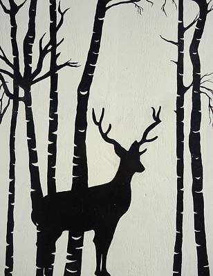Painting - Oh Deer by Leslie Manley