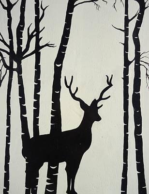 Painting - Oh Deer by Leslie Manley