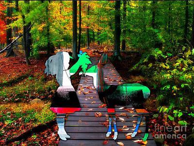Deer Mixed Media - Oh Deer by Marvin Blaine