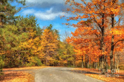 Country Road Digital Art - Oh Happy Day by Lois Bryan