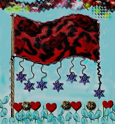 Celebrating Mixed Media - Oh Happy Days Flag by Pepita Selles