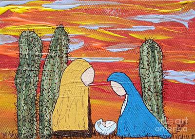 Painting - Oh Holy Desert Night by Marcia Weller-Wenbert