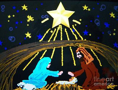 Painting - Oh Holy Night by Judy Via-Wolff